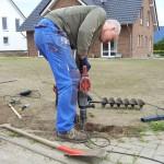 Abbruchhammer im Einsatz