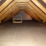 Dachboden ausgelegt